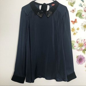 Modcloth blouse with embellished collar  XL